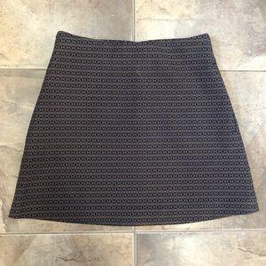 Wilfred Essonne Skirt Tan Navy Printed Pattern 0